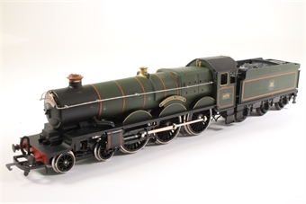 54125-HD03 Castle Class 'Pendennis Castle' 4079 in BRb Green - Pre-owned - detailed - added line plaque on front - glue mark under plaque £40
