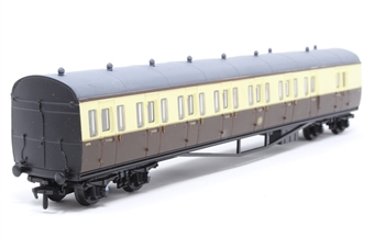 54250-PO57 B Set coach in GWR brown and cream - Pre-owned - one loose bogie - roof repainted grey - poor box, missing part of inner packaging