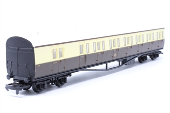 54250-PO71 B Set coach in GWR brown and cream - Pre-owned - minor marks on roof, imperfect box