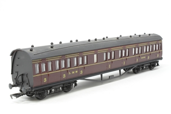 54251-PO20 LMS 57' suburban 1st/3rd composite 19195 in LMS maroon - Pre-owned - Minor marks on roof, imperfect box