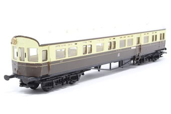 54255-PO39 Auto-trailer in GWR chocolate and cream - Pre-owned - marks on roof - somke corrosion on handrails - imperfect box