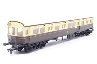 54255-PO44 Auto-trailer in GWR chocolate and cream - Pre-owned - marks on roof- missing vent - imperfect box