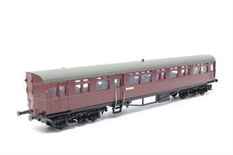 54256-PO30 Auto-Trailer in BR Maroon - 'Didcot' - Pre-owned - Missing Roof vents, detailed with driver