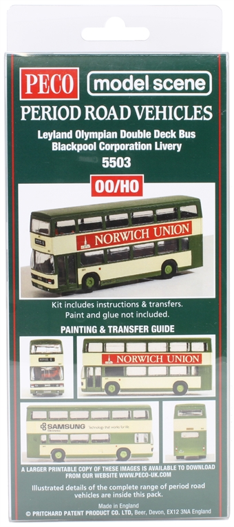 5503Peco Leyland Olympian - Blackpool Corporation - plastic kit