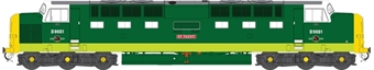 """5504 Class 55 'Deltic' D9001 """"St Paddy"""" in BR green with full yellow ends - weathered"""