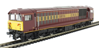 5827 Class 58 58016 in EW&S maroon and gold