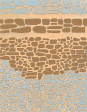 58416 Embossed plasticard sheets - random stone walling - pack of two
