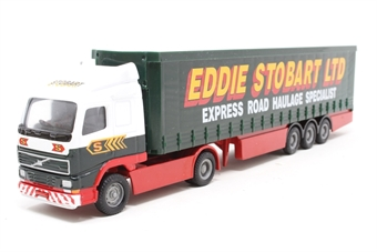 59504-PO02 Volvo Curtainside Trailer - 'Eddie Stobart' - Pre-owned - Like new - Imperfect box