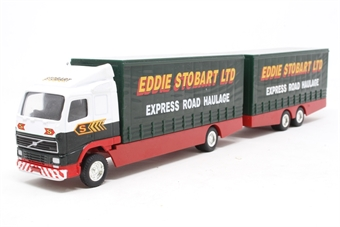59516-PO05 Volvo Short Wheelbase Lorry with Trailer - 'Eddie Stobart' - Pre-owned - Scratches on roofs
