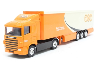 59568-PO05 Scania 4 Series & Box Trailer – TNT - Pre-owned - Like new - Imperfect box