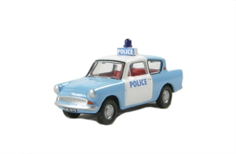 76105003 Ford Anglia 105E police car in light blue and white