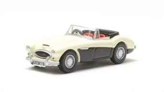 76AH3003 Austin-Healey 3000 Ivory white/black