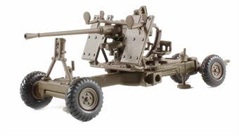 76BF001 40mm Bofors Anti-Aircraft Gun as used with the British Army/Navy 1937- late 1980s in brown