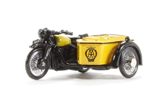 76BSA001 BSA M20/WM20 Motorcycle & sidecar 'AA', with early front forks (circa 1937-47)