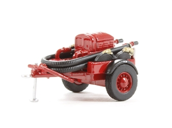 76CCP003 Coventry Climax Pump Trailer in red £4.50