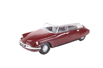 76CDS004 Citroen DS19 Regal Red/White