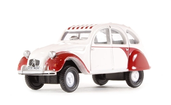 76CT003 Citroen 2CV in Dolly red & white