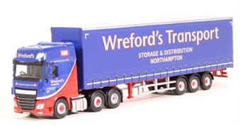 "76DXF002 DAF XF Euro 6 curtainside - ""Wreford's Transport"""