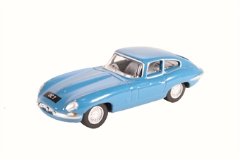 76ETYP010 Jaguar E Type coupe bluebird blue - Donald Campbell