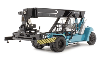 76KRS001 Konecranes Reach Stacker (for freight containers) in Konecranes blue. Fully posable