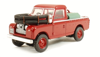 76LAN2004 Land Rover Series II Fire Appliance in red