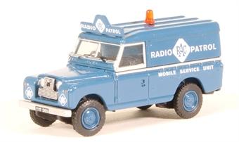 """76LAN2017 Land Rover Series 2 LWB hard top - """"RAC Radio Patrol"""""""
