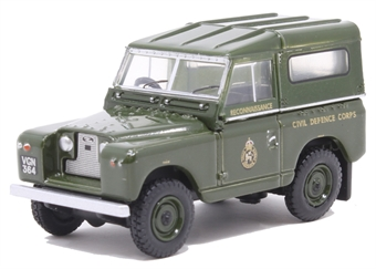 76LR2S005 Land Rover Series II SWB Hard Back Civil Defence