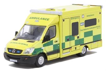 76MA006 Mercedes Ambulance East Midlands Ambulance Service