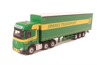76MB006 Mercedes Actros GSC Curtainside Sparks Transport