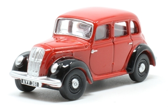 76MES006 Morris Eight E Series Saloon Red/Black