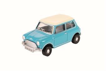 76MN008 Mini Cooper surf blue / old English white