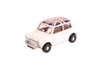 76MN011 Austin Mini Cooper White Union Jack