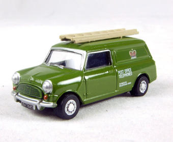 "76MV013 Mini van in ""Post Office"" green livery with ladder"