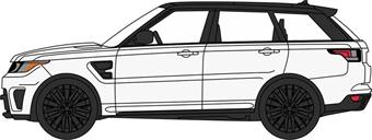 76RRS004 Range Rover Sport SVR Fuji White