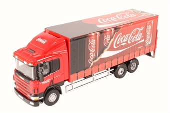 "76S94004CC Scania 94D 6 wheel curtainside - ""Coca Cola"""
