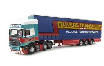 "76SCA07CS Scania R Topline curtainside in ""Olivers Transport"" livery"