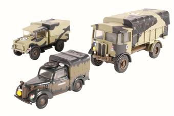76SET25 Military 3 piece set - Italy 1943. Matador, Tilly & MWD