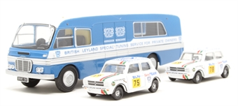 76SET54 BMC Transporter & 2 Mini 1275GT Set British Leyland Nederland