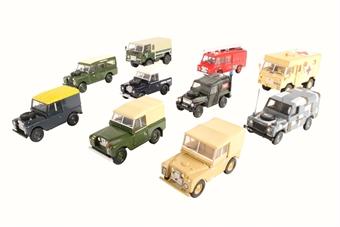 76SET57 10 Piece Land Rover Military Set