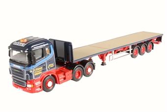 76SHL01FT Scania Highline Flatbed Trailer Ian Craig Haulage Ltd