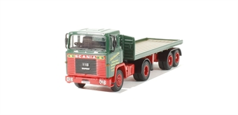 76STOB009 Eddie Stobart Scania 110 Flatbed Trailer (comes in white box)