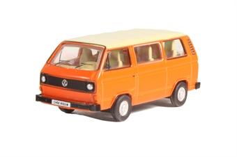76T25008 VW T25 Bus Ivory/Brilliant Orange