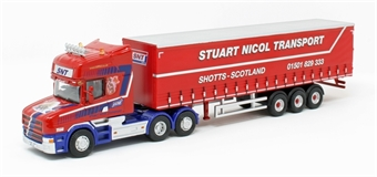 76TCAB010 Scania T Cab Short Curtainside - Stuart Nicol Transport £20
