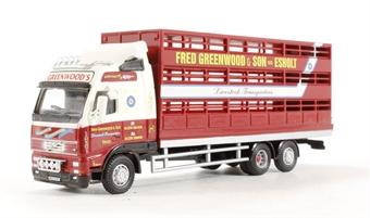 "76VOL01LS Volvo FH rigid livestock lorry ""Fred Greenwood & Son"""