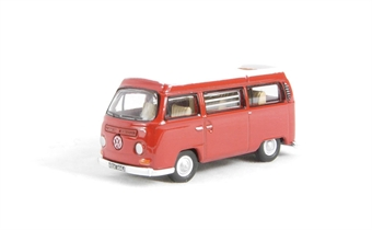 76VW004 VW Camper in Senegal Red with white roof
