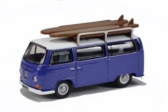 76VW015 VW Bus Metallic Purple/White