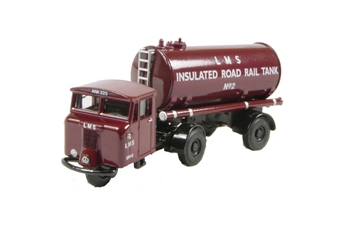 76MH010 Mechanical Horse Tank Trailer in LMS livery