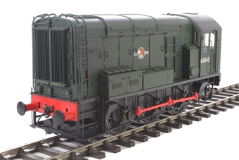 7D-008-000 Class 08 shunter D3043 in BR green with late crest and no yellow warning panels