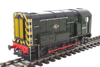 7D-008-003 Class 08 shunter D3219 in BR green with wasp stripes and late crest