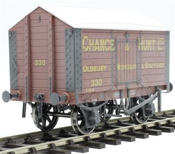 "7F-018-007W 4 wheel salt van - ""Chance and Hunt, Oldbury and Stafford"" - weathered"